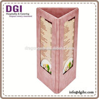 High quality restaurant bar menu holder / transparent plastic folders a4/wine glass plate clips