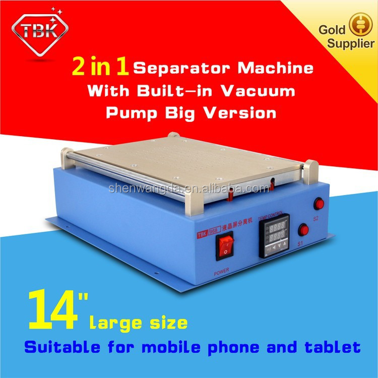 Newest oca laminator Built-in with Vacuum Pump for Mobile Phone LCD Separator Machine