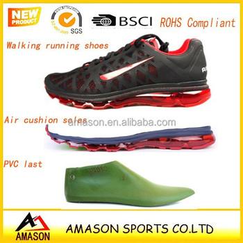 2015 New Fashion Air Sport Shoes With Air Cushion Sole Jinjiang Factory Eva Air Rubber Max Sole