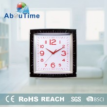 13 Inch cheap home decorative square plastic wall clocks with silent movement