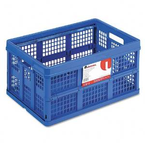 Universal : Filing/Storage Totes, Plastic, 22-1/2 x 15-3/4 x 12-1/4, Blue -:- Sold as 2 Packs of - 1 - / - Total of 2 Each