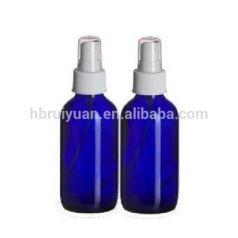 Wholesale 100 ml blue glass perfume spray bottle 50 ml with white top