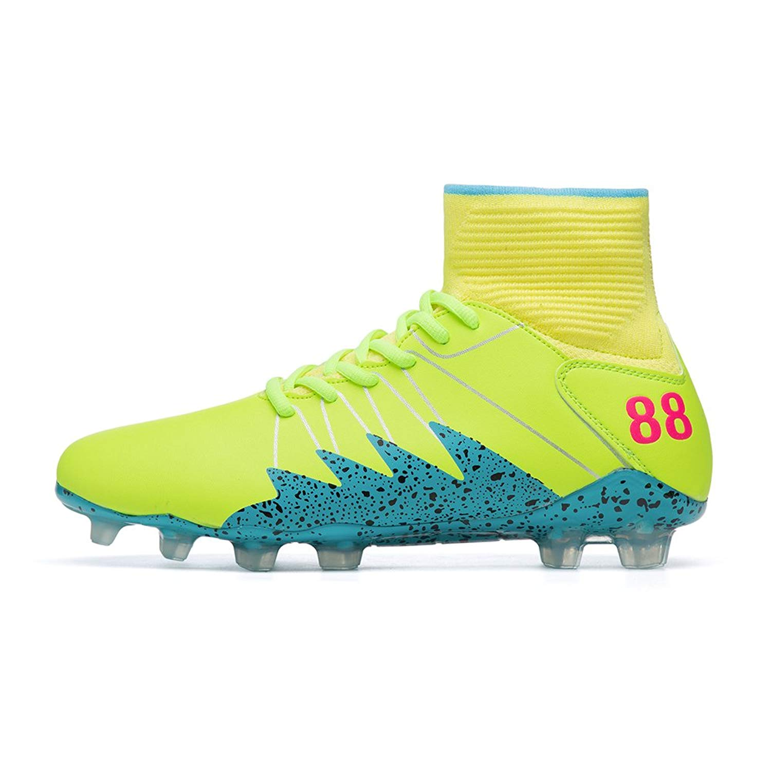 94493cf0739 Get Quotations · FG Soccer Cleats for Men Hypervenom 2 Boots ACC Soccer  Shoes Adult High Top Football Cleats