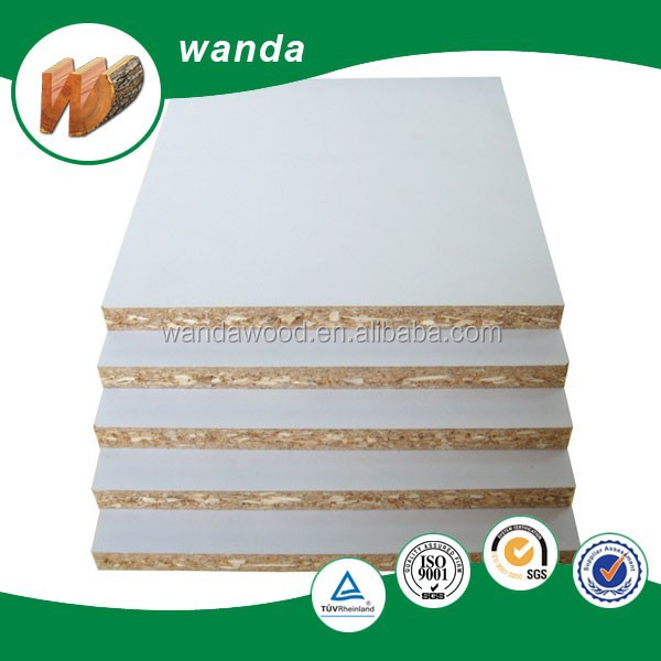 White Laminated Particle Board ~ Witte melamine gecoate spaanplaat gelamineerd