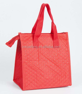 Tote style Food grade thermal food carry bag for meat