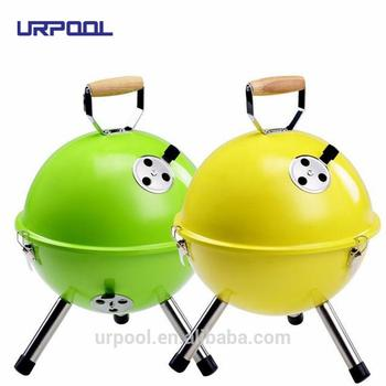 Vintage Cast Iron Hibachi Grill Charcoal Bbq For Small Barbeque
