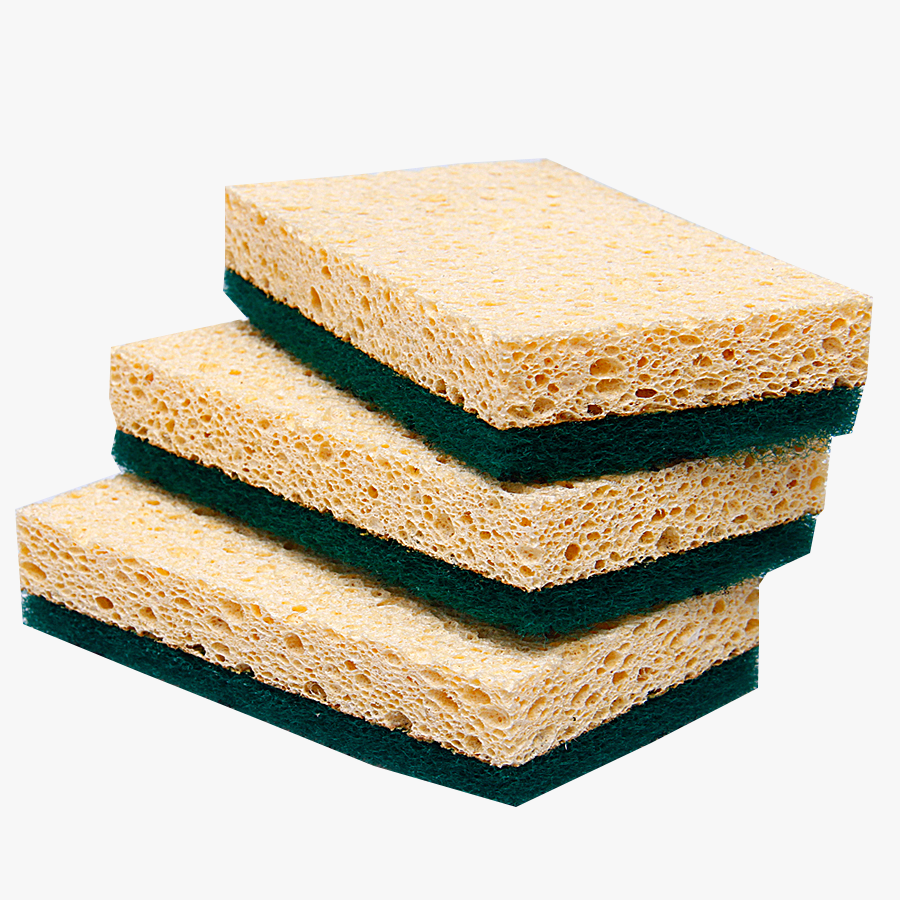 Cheap Colorful 100% Natural Bulk Cellulose Sponge For Kitchen Cleaning