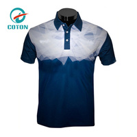 Wholesale Fashion 100% Polyester Plain Color Men's Golf Dry Fit Polo Shirt