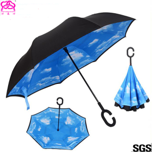 Remote control cover automatic inverted/ reverse car umbrella