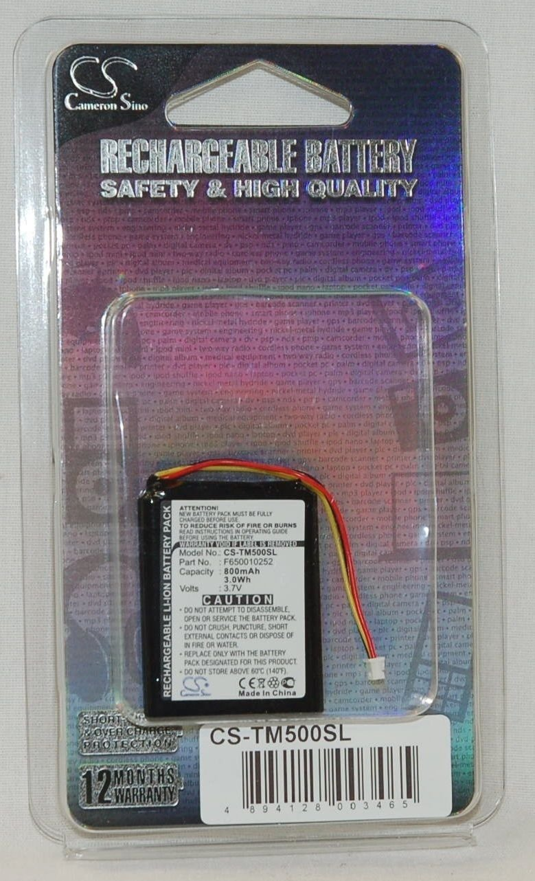 800mAh Li-ion Battery for TomTom One Version 3, V2, V3, One IQ, One IQ V5, One IQ Routes, 4N00.004, N14644, 4N00.004.2, 4N00.005, 4N00.006, 4N00.012, 4N01.000, 4N01.001, 4N01.002, 4K00.100, NVT2B225
