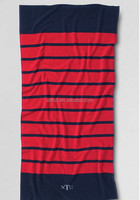 2015 China wholesale bulk 100% cotton fitness stripe beach bath towel