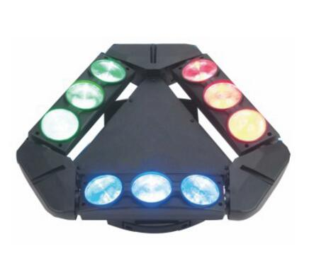 2016 New Products Fast changing colour Moving Head 9x12w triangle LED spider professional stage light