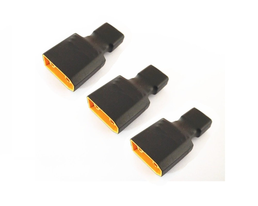 WST No Wires Connector T-Plug Deans Male to EC3 Female Conversion Adapter for RC LiPo Battery x 3 PCS