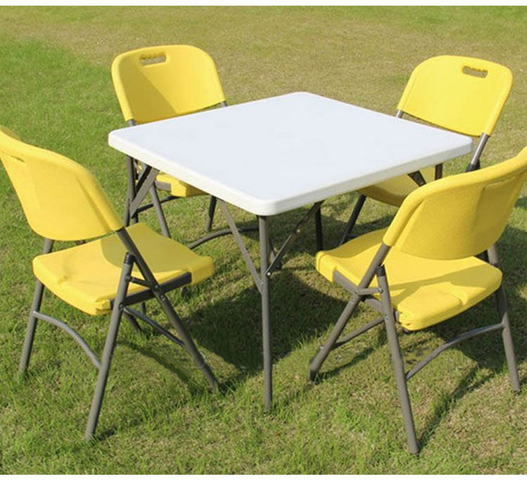 high quality square folding dining table