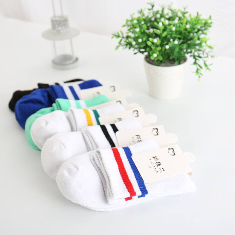 2016 fashion simple style school boy sports sock with cotton