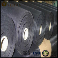 Alibaba golden supplier plain weave 20 40 60 80 mesh black wire cloth
