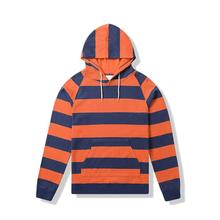 High quality men's striped casual custom sports hoodie