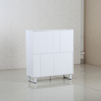 High quality white modern simple design home decorative mdf wood storage cabinet in living room