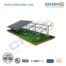 Ground mounting solar racking system pv power installation with screw