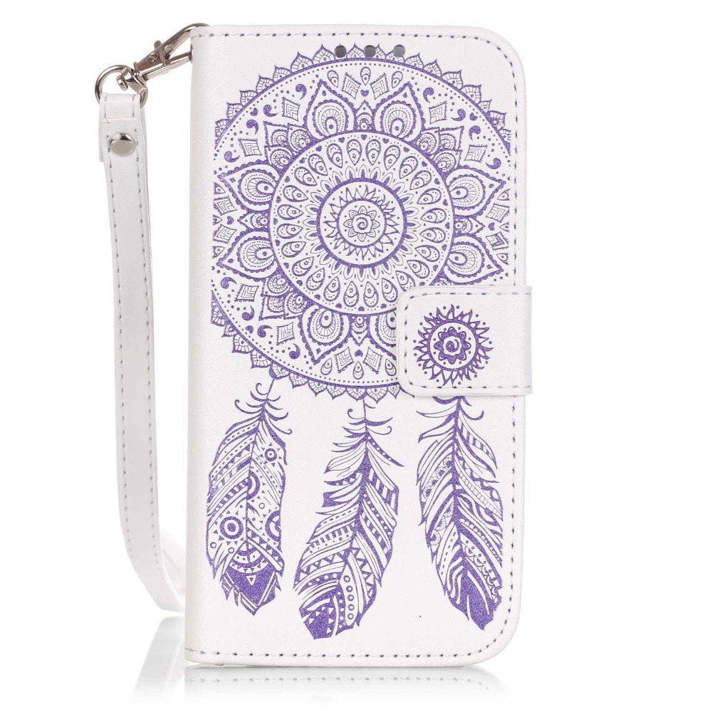 Factory direct 2017 New Wind chimes Wallet Leather Case for iPhone6 iPhone7 plus Case Cover with Credit Card Slots