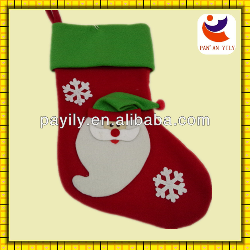 new style christmas stocking single side velvet christmas socking for sale