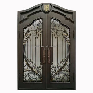 Antique And Luxury New Wrought Iron Grill Gate Door Designs