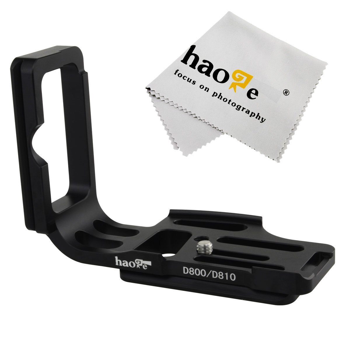 Haoge Vertical Shoot QR Quick Release L Plate Camera Bracket Holder for For Nikon D800 D800E D810 Camera Body Fit Arca Swiss Sunwayfoto Kirk RRS Benro