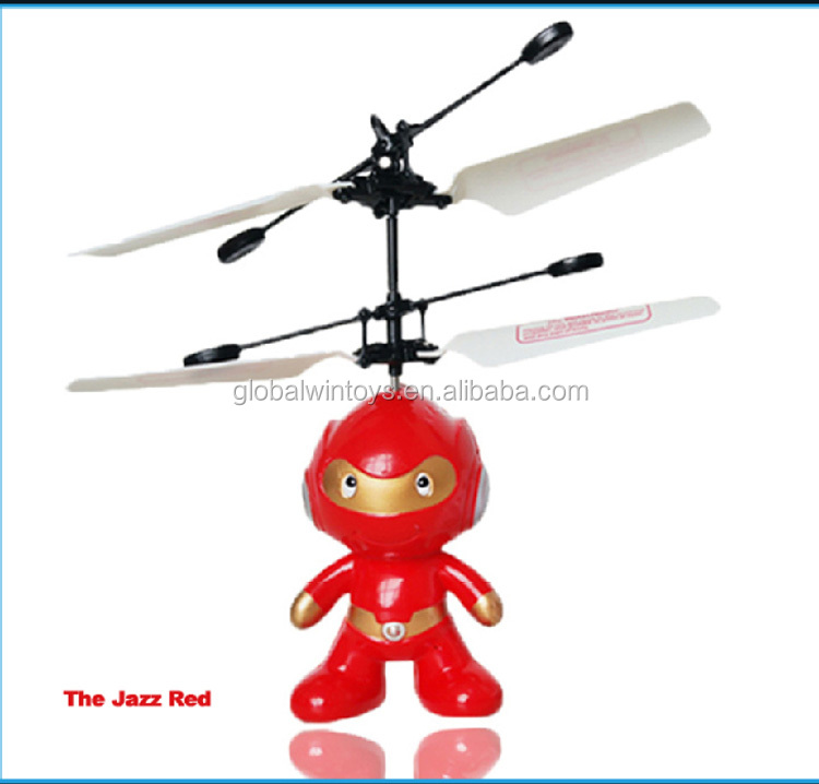 Wholesale toy robot for big kids remote control flying spaceman infrared hand sensor control 2ch rc flying robot toy HY830