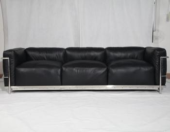 Bauhaus Style Furniture Full Grain Cow Leather Le Corbusier Lc3 Sofa Grand Confort Reproduction