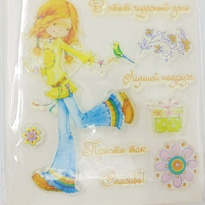 Children Theme Scrapbooking Rubber Stamps TPR Clear Stamps for DIY
