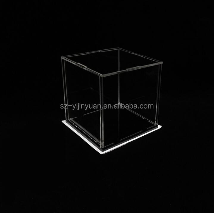 Acrylic Cube Display Box Case Square Sided Perspex Tray Protection Dustproof