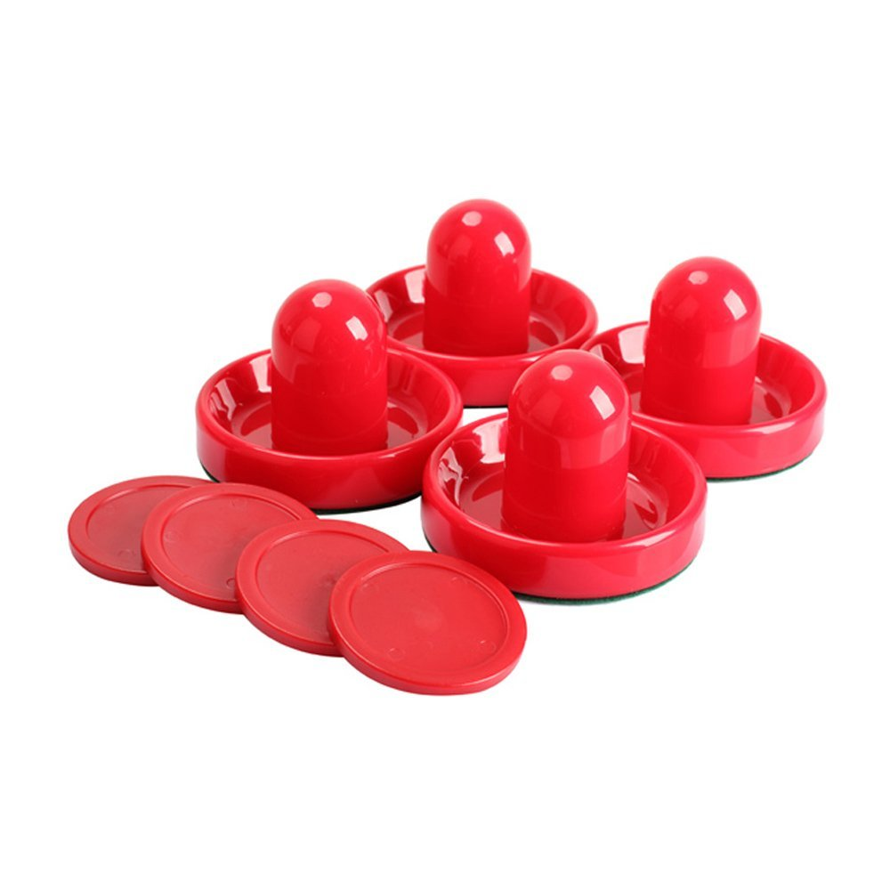 NT_Big Set of Four Red Air Hockey Pushers and Four Red Pucks -- Small Size for Kids ! Offered by Ellen Tools