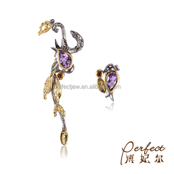 gold sale green for amethyst cushion diamond jewelry double earrings l yellow more j id stone