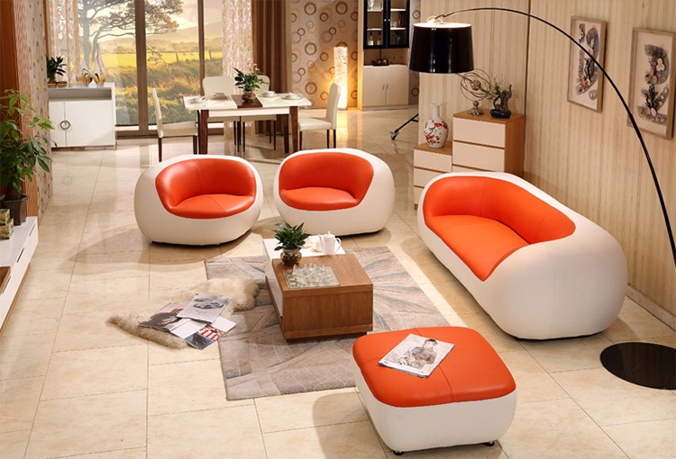 Modern Design Genuine Leather 7 Seater Sectional Sofa Fashionable Living  Room Furniture Low Price Sofa Set