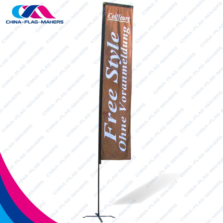 Customizable Trade Show Rectangle Commercial Fly Animate Banner And Flag