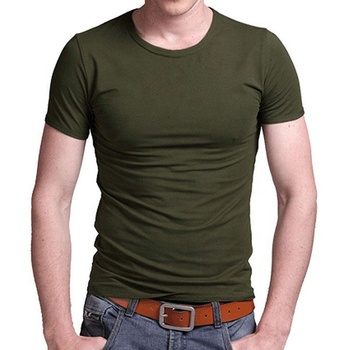 V O Neck 95% Cotton 5% Elastane T Shirt Men T shirt Custom