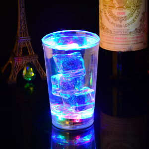 Flashing glitter LED shot glass
