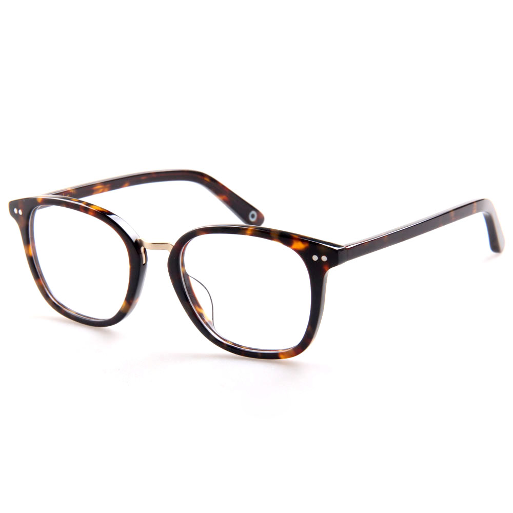 cde54858dac9 China Wholesale Square Shape Acetate Metal Material Unisex Optical Glasses  Frame With Spring Hinge