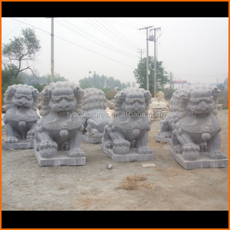 Chinese factory stone lions in stock