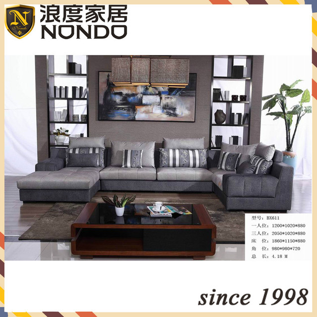 Egypt Style Living Room Suite Modern Fabric Sofa BX611 Part 74