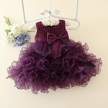 7e3fbe2642709 New design girls party dresses mini summer 1 year baby girl dresses images  violet ball gown