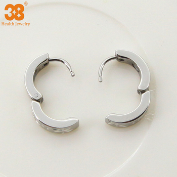Silver Matte Where To Buy Magnetic Earrings For Guys Health Jewelry