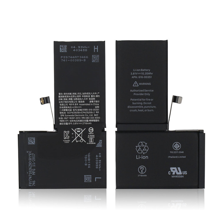 New Replacement Internal Battery for iPhone X Xr Xs Xsmax Full 100%  capacity