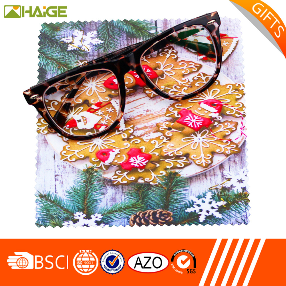 wholesale custom low cost brand publicity Printed Microfiber Eyeglasses Cleaning Cloth