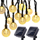 30 LED Christmas Lights bulb solar led String Lights Waterproof decorative outdoor light string