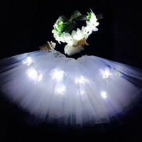 led flower flashing light up crown with dress for wedding