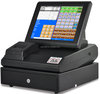 10/12/15 inch All In One Pos machine/pos system/pos terminal with Thermal Printer, customer display, Cash box, Software