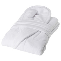 100% Cotton Shawl Velour Terry Warm Bathrobe For Hotel Robes