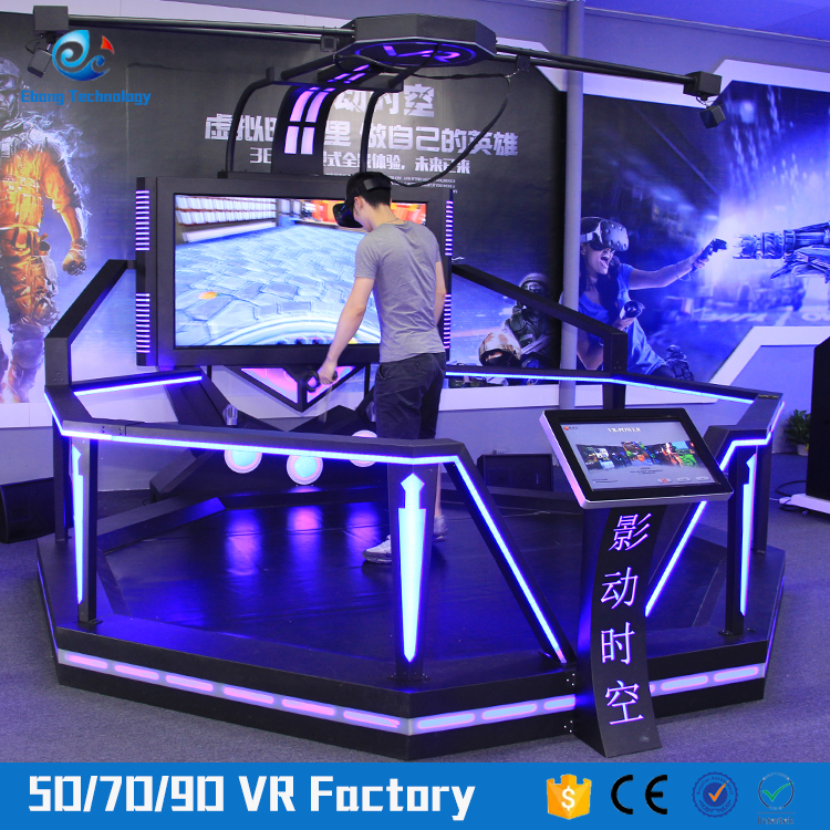 Real shoot game vr arcade various of games 9d vr super hero simulator