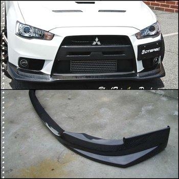 Mitsubishi Evo X Carbon Fiber Front Lip Fq400 Style
